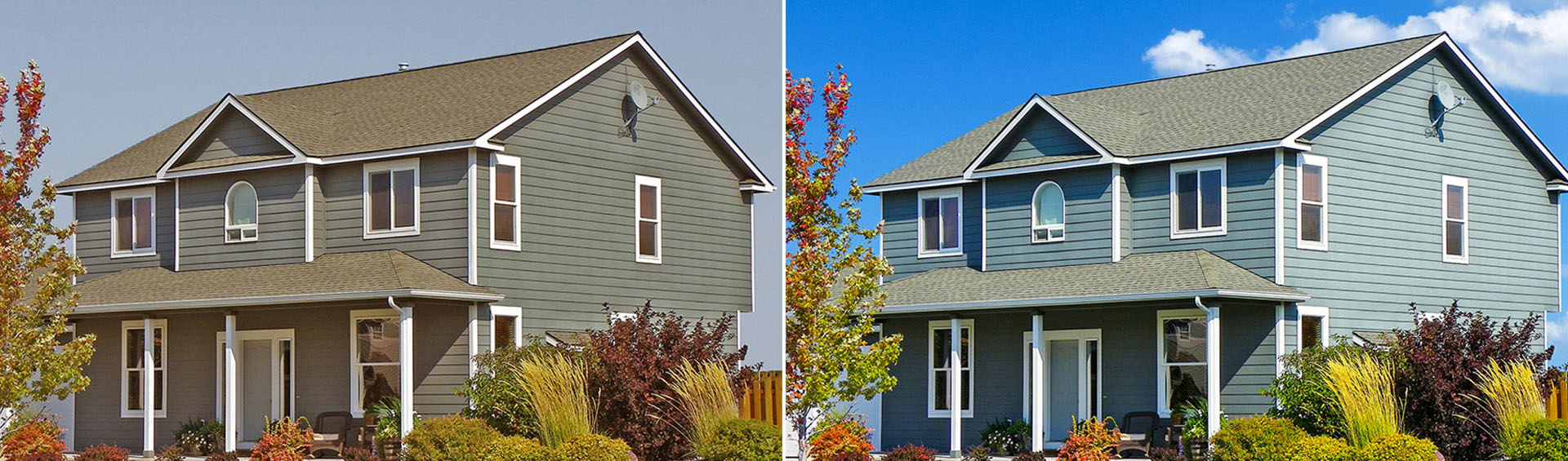 Real Estate Sky Replacement and Color Correction Services