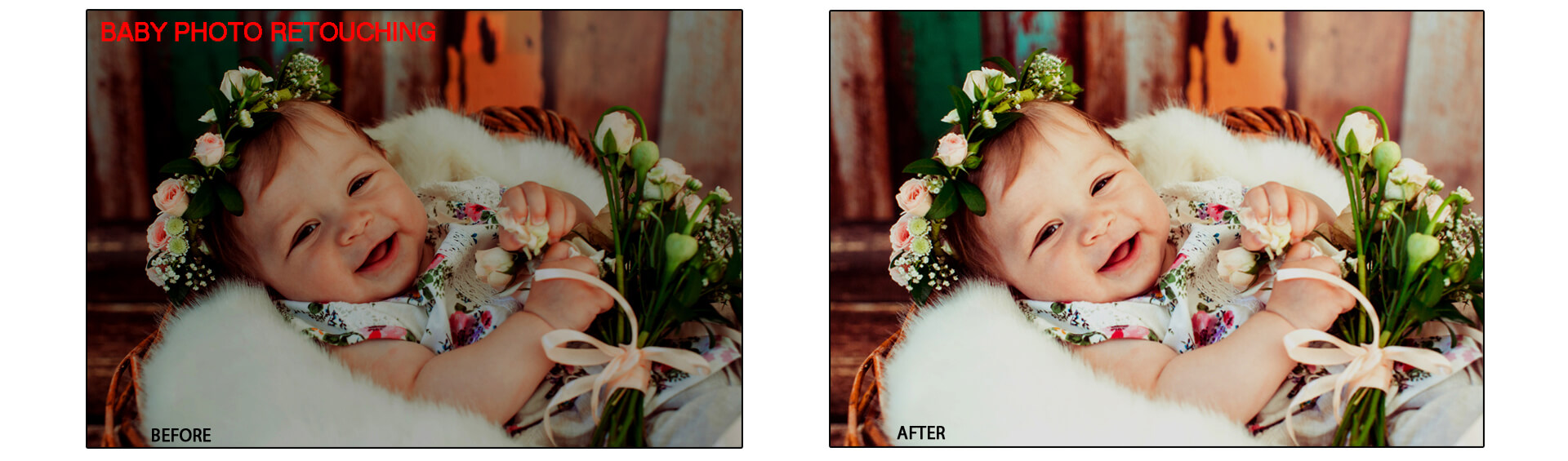 Baby Portraits Retouching Services